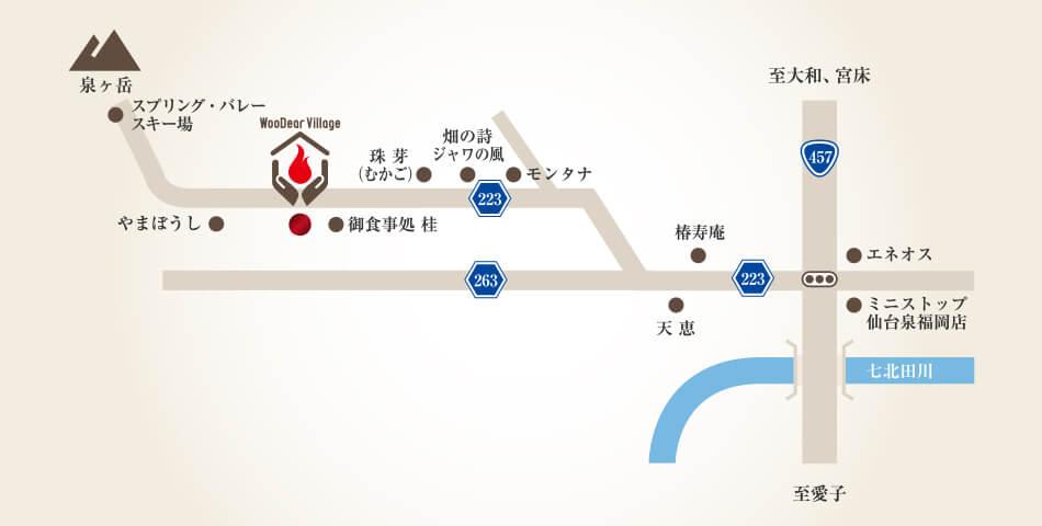 詳細地図(仙台市・泉ヶ岳周辺)
