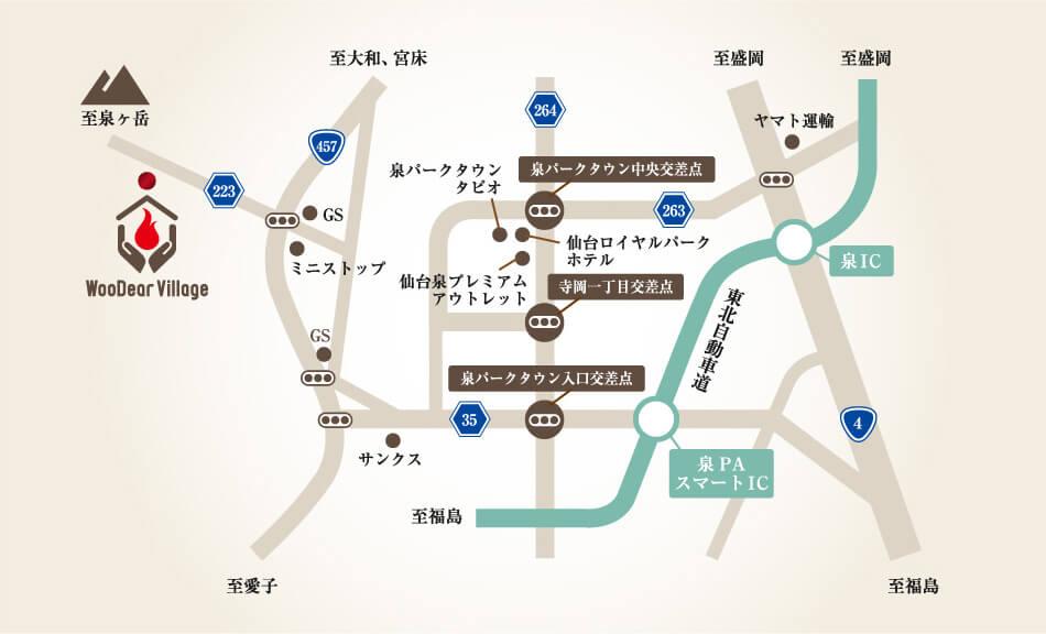 広域地図(仙台市内)